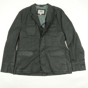 Current Hickey Freeman Black Coated Jacket Blazer